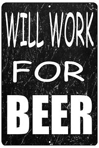 Funny Sarcastic Metal Tin Sign Wall Decor Man Cave Bar Beer Drinking Drunk Party