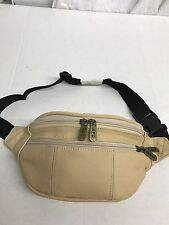 MENS/LADIES LEATHER  FANNY PACK/WAISTBAG BIEGE GENUINE COWHIDE LEATHER*Last One*