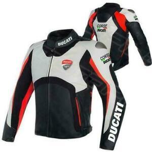 DUCATI NEW Motorcycle Riding Jacket-Motorbike Leather Racing Jacket