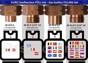 EURO-FULL-SET-4-teilig-fuer-Gasflaschen-Adapter-Fuellstutzen-Europa-Ausland