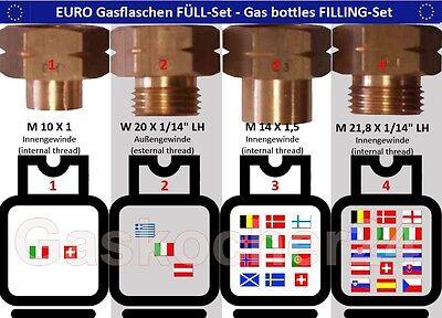 Gehemmt Selbstbewusst Unsicher Verlegen Euro-fÜll-set 4-teilig Für Gasflaschen Adapter Füllstutzen Europa Ausland Befangen