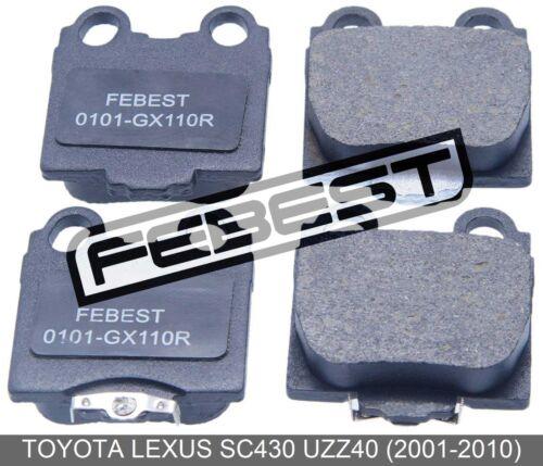 2001-2010 Rear For Toyota Lexus Sc430 Uzz40 Pad Kit Disc Brake