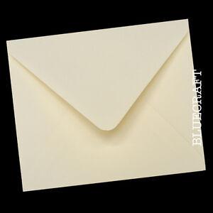 "50 x Square 155 x 155mm 6"" Ivory Quality Envelopes 100gsm"