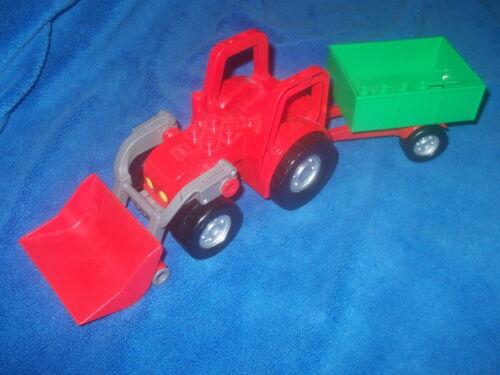 Lego Duplo Ville Bauernhof 1 X großer Traktor Trekker Schaufel Anhänger aus 5647