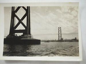 Acabado-el-Dorado-Gate-Puente-Pilones-California-B-amp-w-Foto-Alrededor-1934