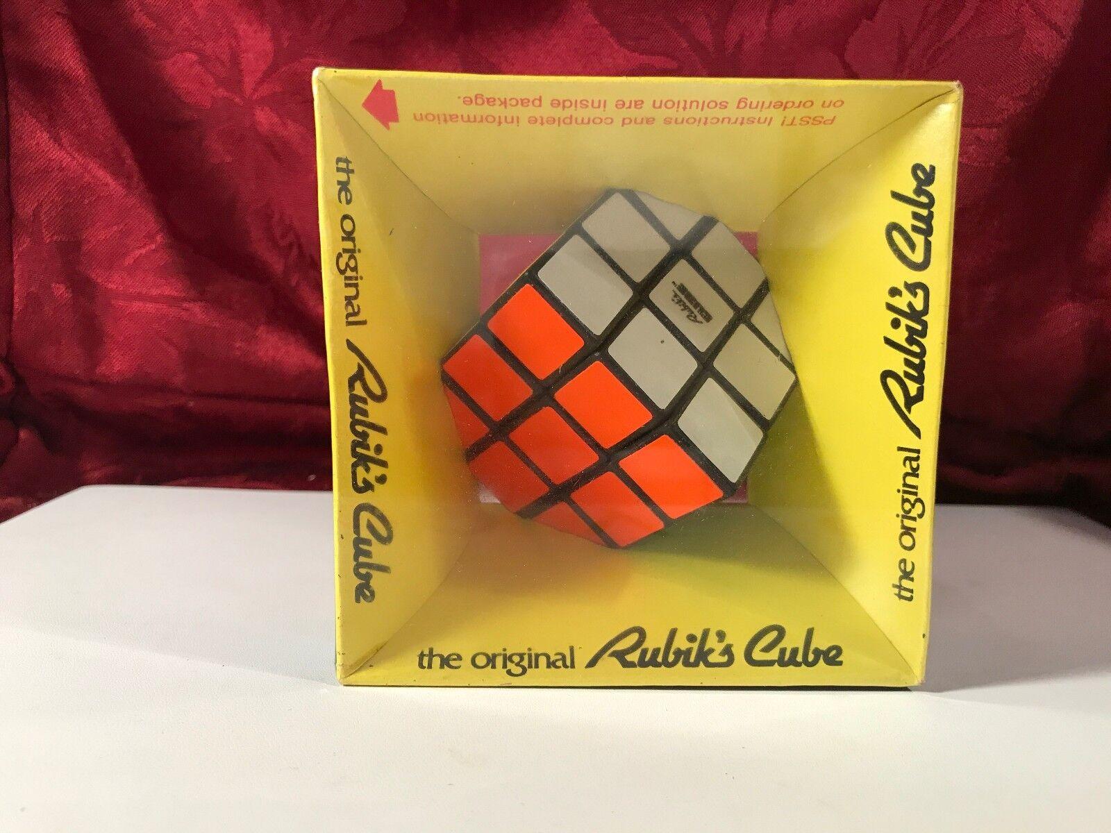 Vintage scellée dans boîte d'origine Rubik's Cube original Puzzle Jouet