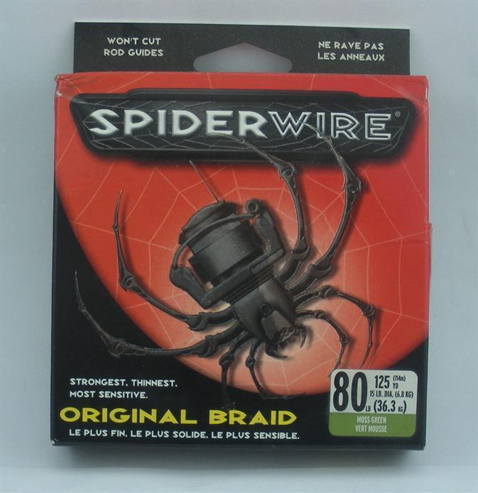 Spiderwire 1127852 SB80G125 80 Lb Original Spiderwire Braided Line 125 Yd 10727