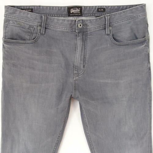 Mens SuperDry LOW RIDER Stretch Straight Grey Jean