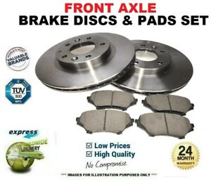 Front Axle DRILLED BRAKE DISCS and PADS for MERCEDES Coupe E350 4matic 2013->on