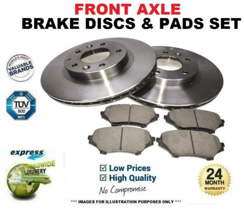 Front Axle BRAKE DISCS and PADS SET for VAUXHALL ASTRAVAN Mk V 1.4 i 2005->on