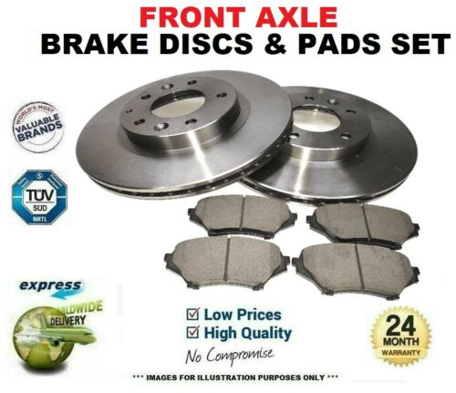 Front Axle BRAKE DISCS PADS SET for VAUXHALL COMBO Mk II 1.7 DI 16V 2001-2011