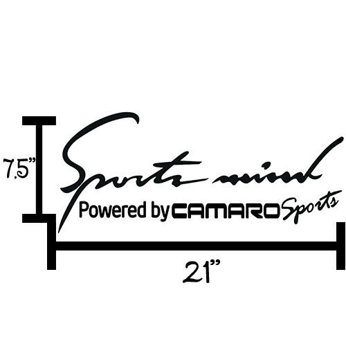 2X Multiple Color Sports Mind Power for Camaro 1998-2002 Vinyl Decal Sticker