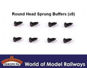 Bachmann-36-032-Round-Head-Sprung-Buffers-x8-OO-Gauge