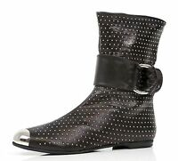 Giuseppe Zanotti Design Leather Black Ankle Boots Shoes Sz 37 $1,140