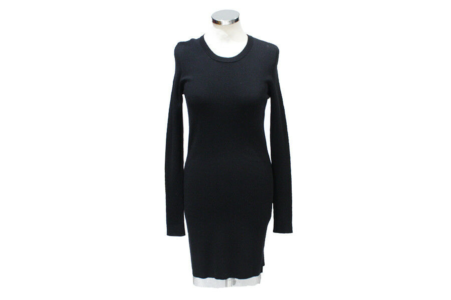 ROBE PULL BARBARA BUI nero OURLET MAILLE DE FER argento