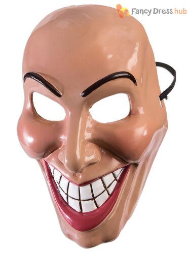Adulto mal Grin Purga Máscara Halloween Elaborado Vestido Traje Accesorio Miedo sonrisa
