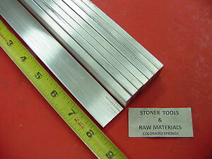 "8 pieces 1/4"" X 1"" ALUMINUM 6061 FLAT BAR 8"" long T6511 .250"" New Mill Stock"