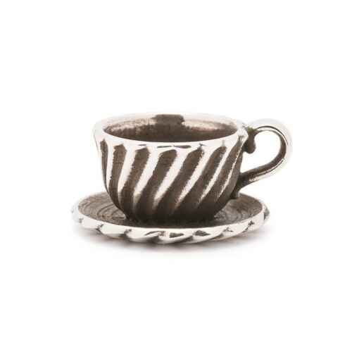 AUTHENTIC TROLLBEADS SILVER TEACUP 11162 TAZZA DA CAFFE/'