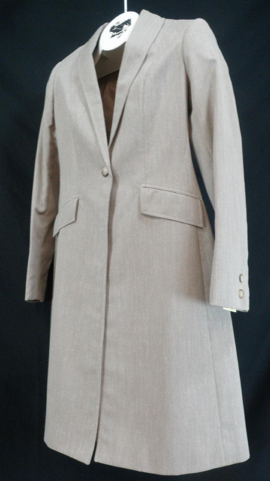 Reed Hill Ladies días de abrigo Bronceado Herringbone Poliéster Talle 6-Hecho En Usa
