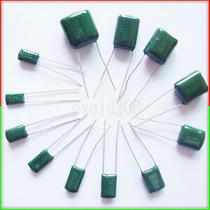 100PCS 630V 0.001uF 1nF 1000pF 2J102J ±5/% Mylar Film Capacitors Radial
