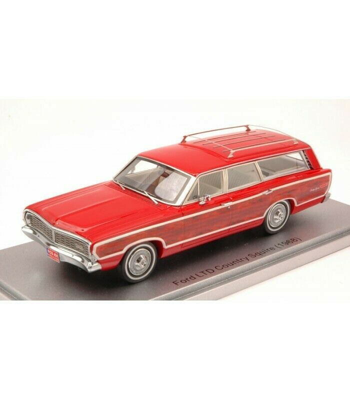 FORD LTD COUNTRY SQUIRE 1968 rojo 1 43