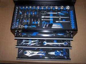 99 tlg Werkzeugkoffer Werkzeugkasten Werkzeugbox Werkzeugkiste mit 3 Schubladen