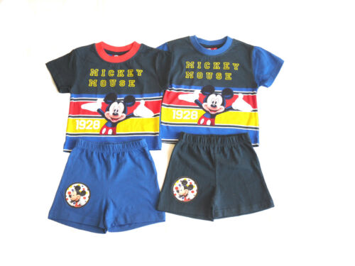 Boys Disney Mickey Mouse Shorts /& T-Shirt Set