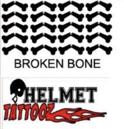 Broken Bones Helmet Award Stickers Sports Helmet Decal Set
