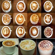 16pcs Coffee Stencil Filter Coffee Maker Coffee Barista Mold Templates Art Tools