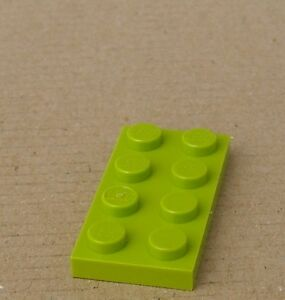 Lego-50-limette-Panel-2x4-3020-New-lime-Plates-Plate-Plate-New