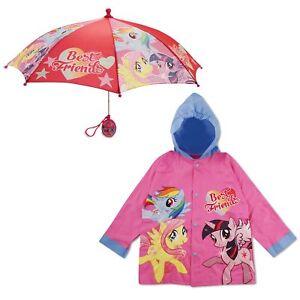 Hasbro-My-Little-Pony-Impermeable-Y-Paraguas-Rainwear-Set-las-ninas-pequenas-edad-2-7
