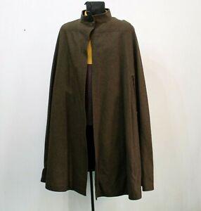 Vintage-LODENFREY-Pure-Wool-Cape-Coat-Womens-Brown-Size-EU40-UK-8-10