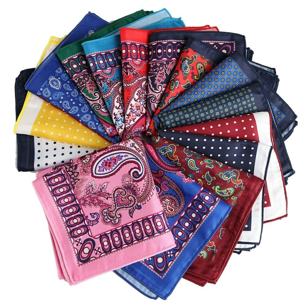 !!! lo último!!! Pañuelo Bolsillo Cuadrado Polka Dot toalla Paisley estilo suave Pañuelo en el pecho