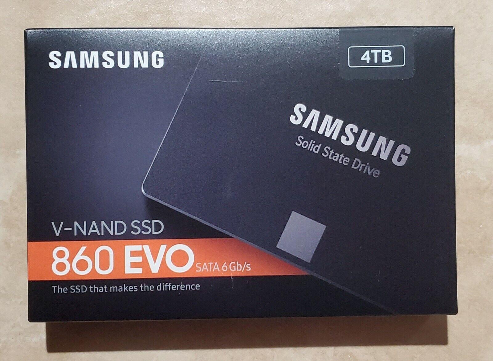 New Samsung 860 EVO 4TB 2.5