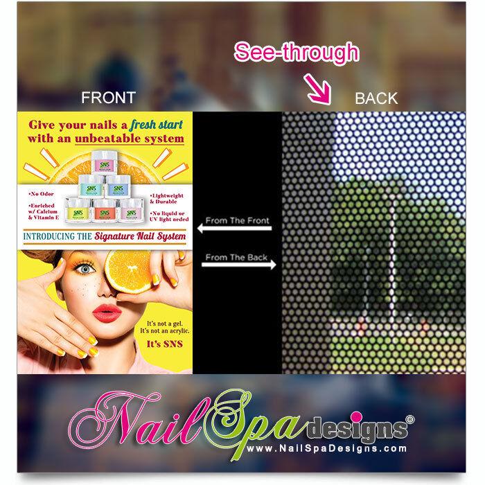Mesh Vinyl Nail Salon Poster - SNS - Signature Nail System Mesh Vinyl    P-207