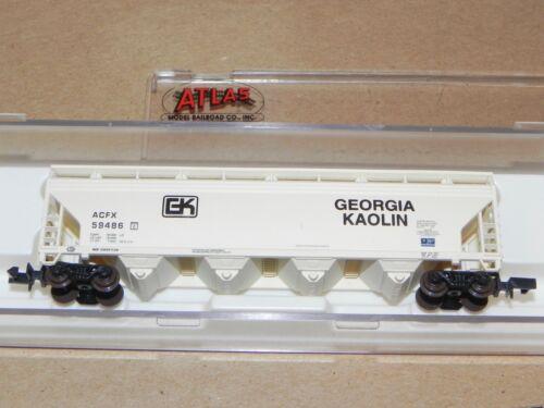 Atlas N Ga Georgia Kaolin 4 Bay Centerflow Hopper Car NIB #3961