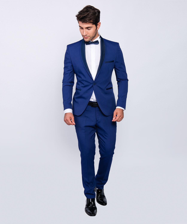 Slim Fit Herren Herren Herren Smoking in Blau -Anzug-Hochzeit-Bühne-Sakko      Elegantes Aussehen    Ausgang    Ausgezeichnetes Preis  fcbfe1