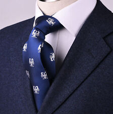 """Blue Call to Arms 3.15"""" Tie American Patriot Eagle Business Fashion 8cm Necktie"""