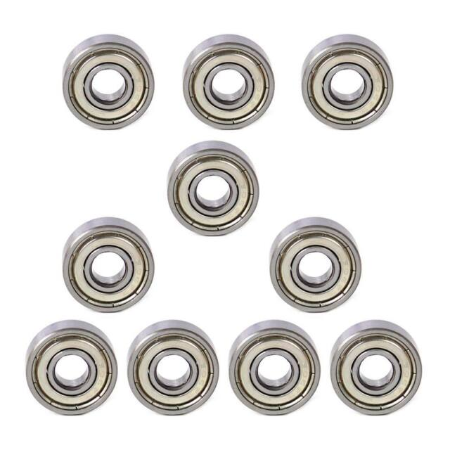 10Pcs Metal 606ZZ Miniature Deep Groove Shielded Ball Bearings 6*17*6 mm