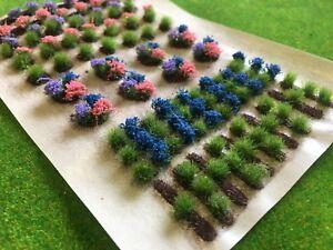 100% Vrai Attribution Des Cultures Set 03 Mixte Fleurs-static Grass Tufts Modèle Paysage Jardin-afficher Le Titre D'origine