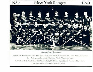 1939 1940 NEW YORK RANGERS 8X10 TEAM  PHOTO  HOCKEY NHL USA HOF
