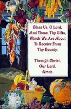 GRACE Prayer of Thanksgiving Remastered Antique Christian Artwork Print / Poster
