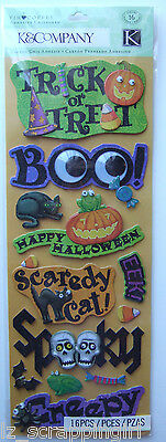 Tim Coffey ~HALLOWEEN ADHESIVE CHIPBOARD~ Stickers K & Company Co; Haunted House
