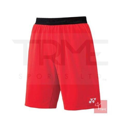 YONEX 15075 Men/'s Short-rouge feu