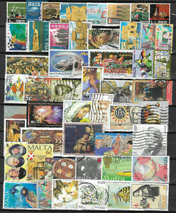 MALTA-Collection-Packet-of-50-Different-POSTAGE-STAMPS-Mainly-USED