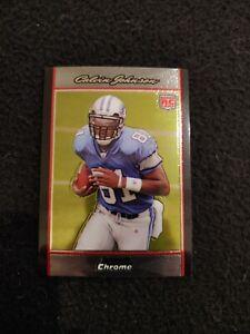 2007 Bowman Chrome Calvin Johnson rookie football card #BC75 Detroit Lions NM/MT