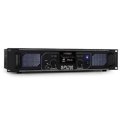 AMPLIFICADOR PROFESIONAL PA DJ 700W AUX USB SD MP3 RADIO LED AZUL -B-Stock