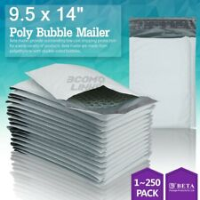 4 95x14 95x13 Poly Bubble Mailer Padded Envelope Shipping Bag 2550100 Pcs