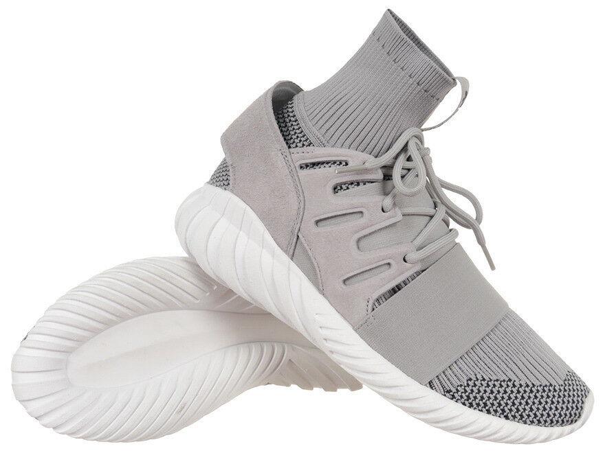 adidas Originals Tubular Doom Primeknit PK lifestyle sneakers NEW grey