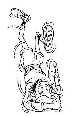 Unmounted rubber stamp Funny Rugby Player